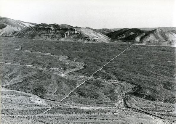 Richard Long: Heel Line in the Dust